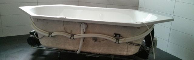 Das Bad wird fertig